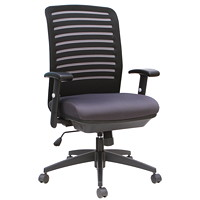 TygerClaw Executive Office Chair, High-Back, Black, Fabric