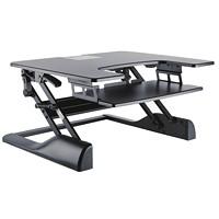 TygerClaw Sit-Stand Desktop Workstation Stand, Black