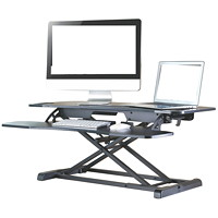 TygerClaw Sit-Stand Desktop Workstation, Black