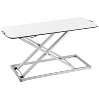 TygerClaw Tabletop Sit-Stand Workstation, White
