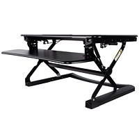 TygerClaw Ergonomic Sit-Stand Desktop Workstation, Black