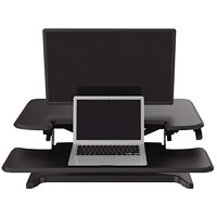 TygerClaw Sit-Stand Workstation, Black