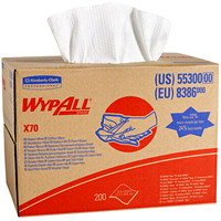 Wypall X70 Wipers, BRAG Box, 200 Sheets, White