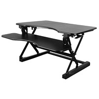 TygerClaw Height-Adjustable Sit-Stand Workstation, Black