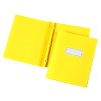 Couvertures de présentation avec bordure et rubrique gaufrées Grand & Toy, jaune, format lettre, emb. de 5
