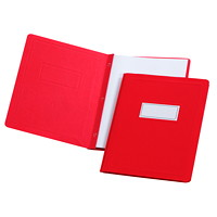 Grand & Toy Report Covers with Embossed Border and Panel, Red, Letter-Size, 5/PK