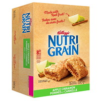 Kellogg's Nutri-Grain Cereal Bars, Apple Cinnamon, 37 g, 16/BX