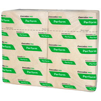 Cascades PRO Perform 1-Ply Interfold Napkins for Tandem Dispenser, Natural, 376 Sheets/PK, 16/CS