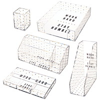 Deflecto Desklarity 5-Piece Desk Set, Polka Dot, Black/Gold