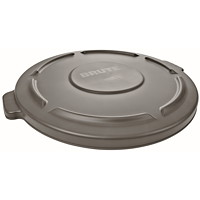 Rubbermaid Commercial Brute Self-Draining Lid For 20-Gallon Container, Grey
