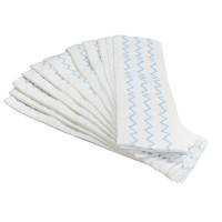 Rubbermaid Commercial HYGEN Disposable Microfibre Mop Refill Pads, White/Blue, 18