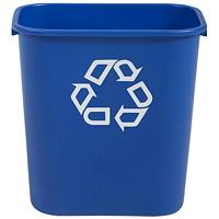 Corbeille bleue de recyclage Rubbermaid