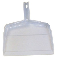 Globe Commercial Products Clip-On Dust Pan, White, 12