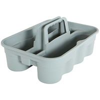 Globe Commercial Products Heavy-Duty Cleaning Supply Carry Caddy, Large, Grey