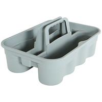 Bac de transport ultrarésistant pour fournitures de nettoyage Globe Commercial Products, grand format, gris