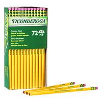 Crayons avec gomme à effacer Ticonderoga Dixon, mine HB nº2 tendre, boîte de 72