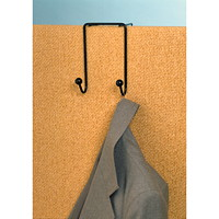 Westcott Double Coat Wire Hanger, Black