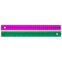 Westcott Plastic Metric Ruler, Assorted Jewel Colours (No Colour Choice on Delivered Orders), 30 cm