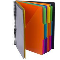 Classeur de projets en poly Smead, gris avec couleurs vives, format lettre, onglets 1/3