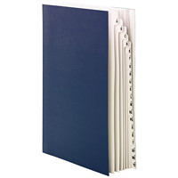 Smead Desk File/Sorter Alphabetical (A-Z) and 1-20, Blue, Legal Size