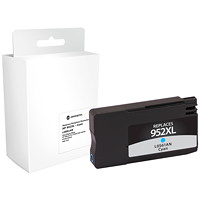 Grand & Toy Remanufactured HP 952XL Cyan High Yield Ink Cartridge (L0S61AN)