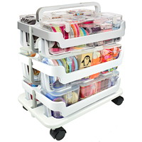 Deflecto Stackable Caddy Organizer Multi-Pack Bundle, White