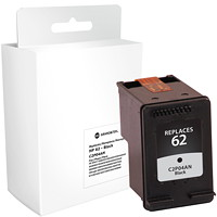 Grand & Toy Remanufactured HP 62 Black Standard Yield Ink Cartridge (C2P04AN)