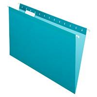 Dossiers suspendus renforcés de haute qualité Pendaflex, sarcelle, format légal, boîte de 25
