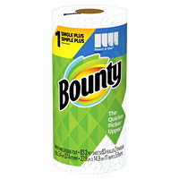 Bounty 2-Ply Select-A-Size Single Roll Paper Towels, White, 83 Sheets/RL