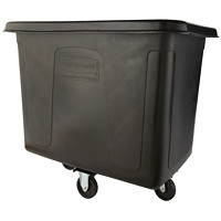 Rubbermaid Commercial Cube Truck, Black, 16 cu ft, 500 lb Load Capacity