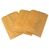Hospeco Kraft Waxed Feminine Hygiene Disposal Bags with Gusset, Brown, 500/CT - Only available in British Columbia