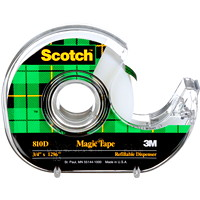 Scotch Refillable Tape Dispensers with Magic Invisible Tape, 19 mm x 33 m