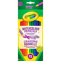Crayola Watercolour Pencils, Assorted Colours, 12/PK
