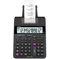 Calculatrice imprimante HR-170RC Casio, noir