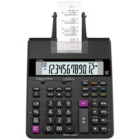 Calculatrice imprimante HR-200RC Casio, noir