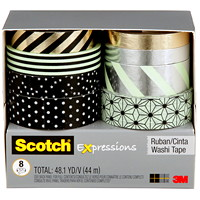 SCOTCH EXPRESS WASHI TAPE BLK