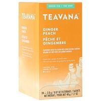 Teavana Tea Sachets, Ginger Peach, 2.0 g, 24/BX