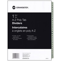 Intercalaires à onglets en poly Grand & Toy