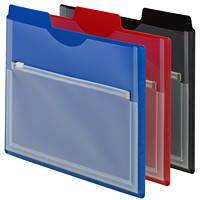 Smead Project Organizers with Zip Pouch, Assorted Colours, Letter-Size, 3/PK