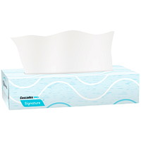 Cascades PRO Signature 2-Ply Flat Box Facial Tissues, White, 100 Sheets/BX, 30 Boxes/CS
