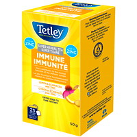 Tetley Tea Super Herbal Immune Lemon and Echinacea with Zinc Tea, 25/BX