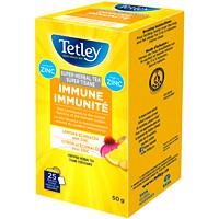 Super tisane immunité citron et échinacée avec zinc Tetley, boîte de 25