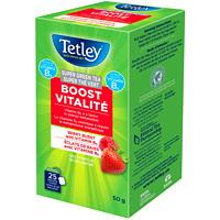 Super thé vert vitalité éclats de baies Tetley, boîte de 25