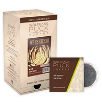 Wolfgang Puck Single Cup Coffee Pods, Espresso Extra Bold Dark Roast, 18/BX - Ontario, Montreal and Quebec Residents Only