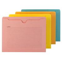 Smead Notes File Jacket, Assorted Colours, Flat-No Expansion, Letter-Size, 12/PK