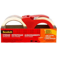 Scotch Long Lasting Storage Packaging Tape with Dispenser, 48 mm x 35 m, 2 Rolls