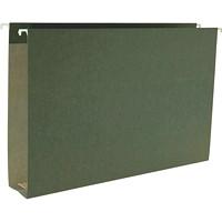 Dossiers suspendus à fond plat Smead, vert standard, expansion de 2po, format légal, boîte de 25