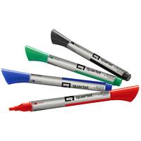 Marqueurs effaçables à sec pour tableau en verre Quartet, couleurs variées, pointe fine, emb. de 4