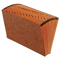 Pendaflex Open-Top Daily Expanding File, Numbered 1-31, Brown, Legal Size