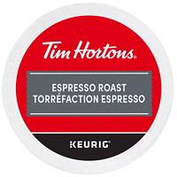 Dosettes K-Cup de café Tim Hortons, torréfaction espresso, boîte de 24